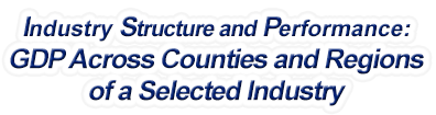 Idaho - Gross Domestic Product Across Counties and Regions of a Selected Industry