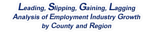 Idaho - LSGL Analysis of Employment Industry Growth by Selected Region, 1969-2015